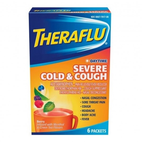 THERAFLU DAYTIME SEVERE COLD & COUGH, 6 PACKETS