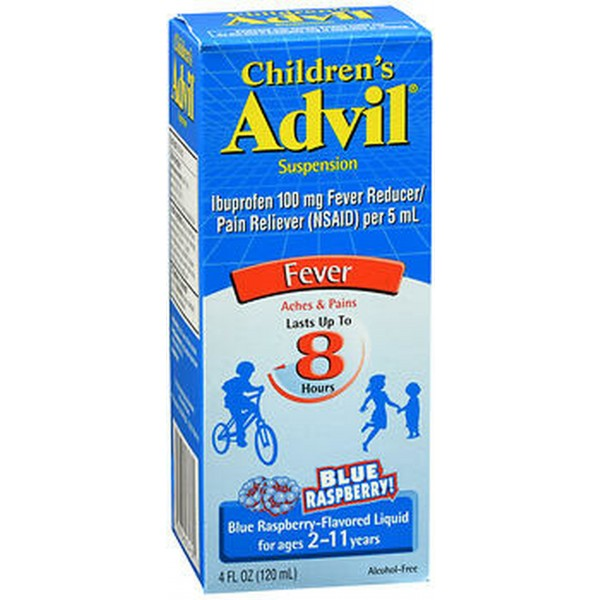 Advil Children's Fever Suspension Dye-Free Blue Raspberry - 4 oz