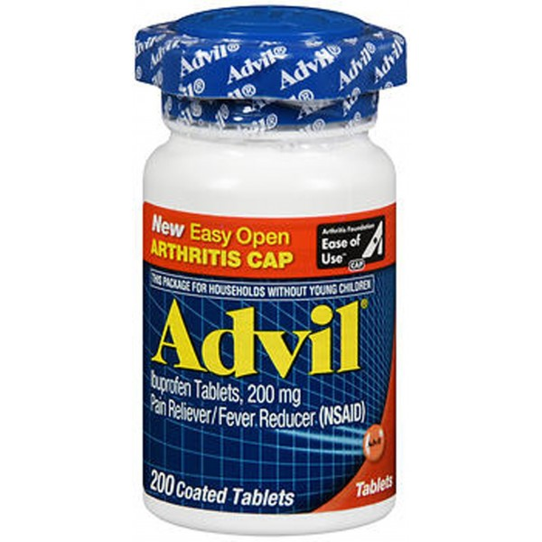 Advil Ibuprofen 200 mg Coated Tablets - 200 ct