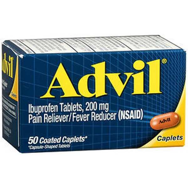 Advil Ibuprofen Pain Reliever/Fever Reducer Caplets - 50 ct
