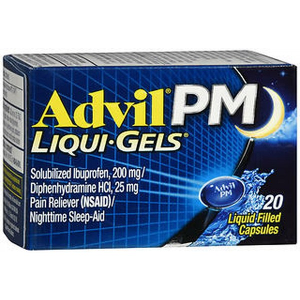 Advil PM Pain Reliever/Nighttime Sleep-Aid Liqui-Gels - 20 ct