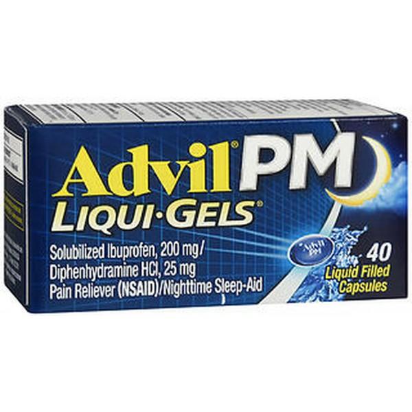 Advil PM Pain Reliever/Nighttime Sleep-Aid Liqui-Gels- 40 ct