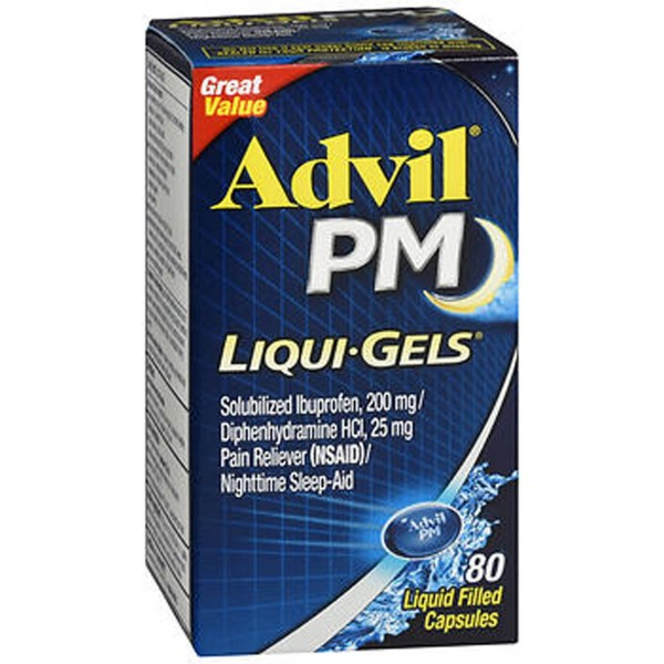 Advil PM Pain Reliever/Nighttime Sleep-Aid Liqui-Gels - 80 ct