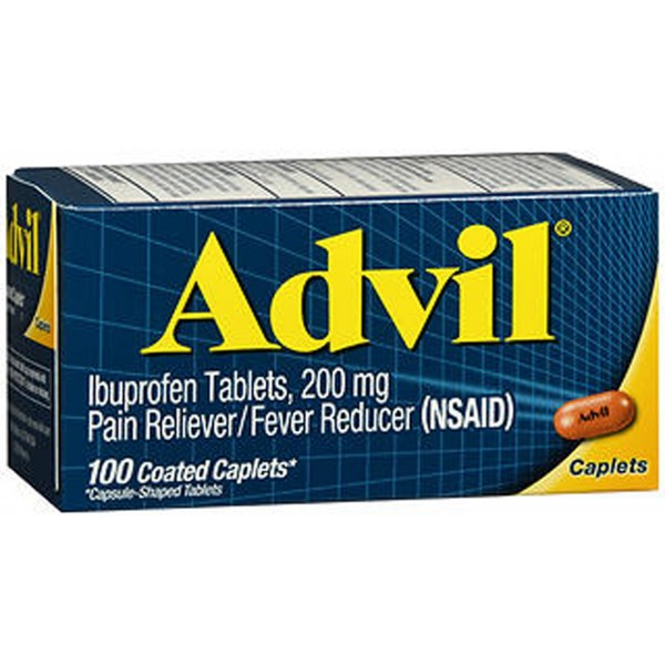 Advil Pain Reliever/Fever Reducer 200mg Caplets - 100 Ct