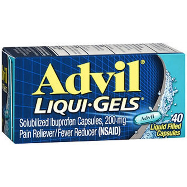 Advil Pain Reliever/Fever Reducer Liqui-Gels - 40 ct