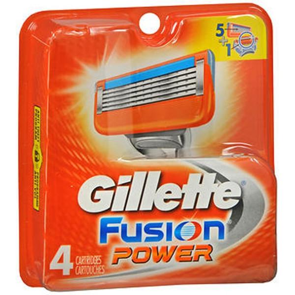 Gillette Fusion Power Cartridges - 4 ct
