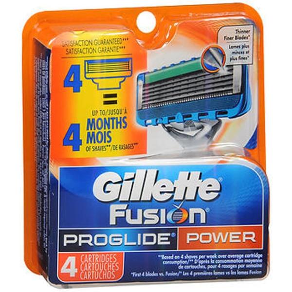 Gillette Fusion ProGlide Cartridges Power - 4 Ct.