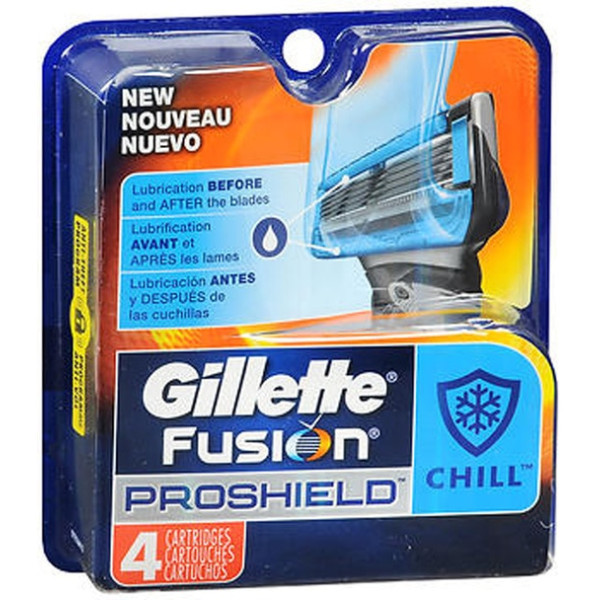 Gillette Fusion ProShield Chill Cartridges - 4 ct
