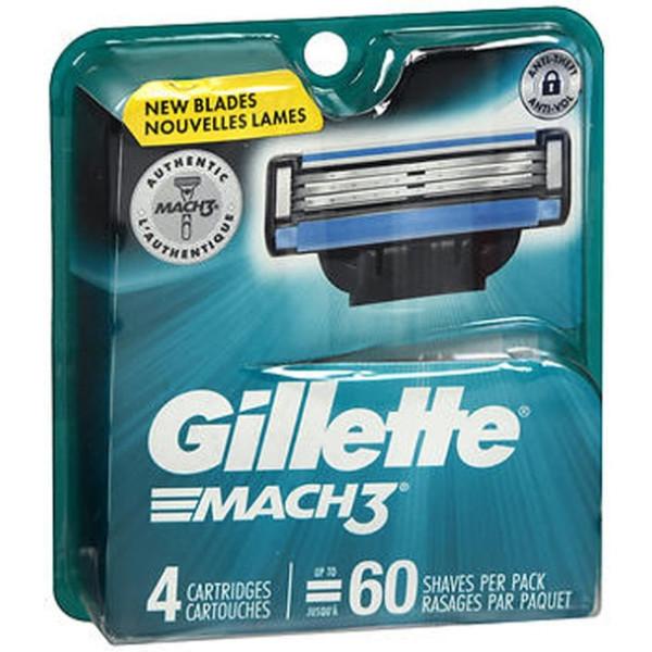 Gillette Mach3 Cartridges - 4 ct
