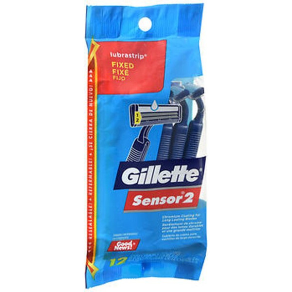 Gillette Sensor 2 Lubrastrip Disposable Razors - 12ct