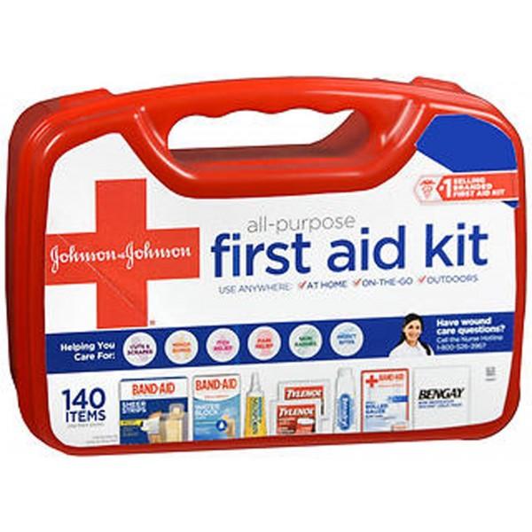 Johnson & Johnson Red Cross All-Purpose First Aid Kit 140 Items - 1 kit
