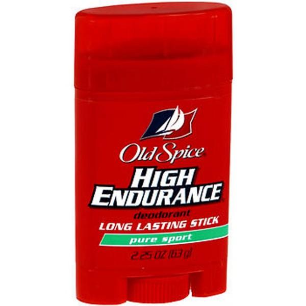 Old Spice High Endurance Deodorant Long Lasting Stick Pure Sport - 2.25 oz