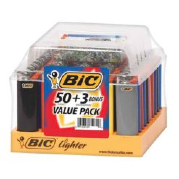 Regular Bic Lighter 50 + 3 Free