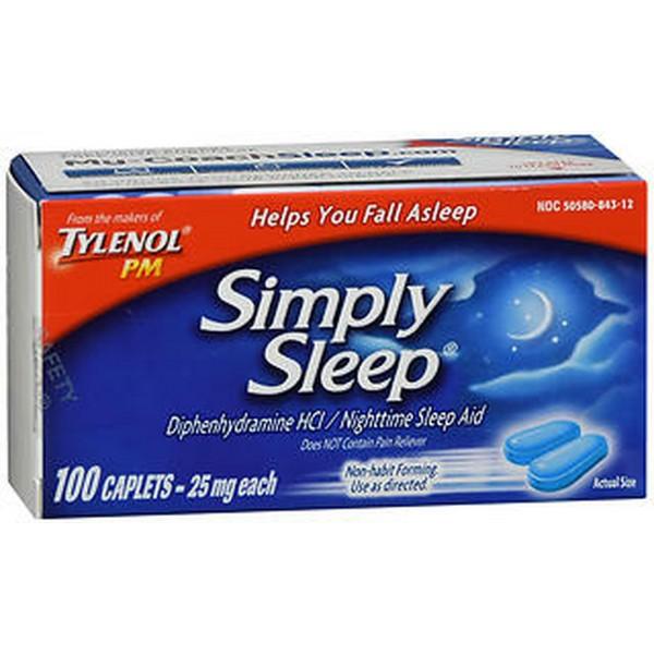 Simply Sleep Nighttime Sleep Aid Caplets - 100 caplets