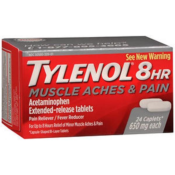 Tylenol 8HR Muscle Aches & Pain Caplets - 24 ct