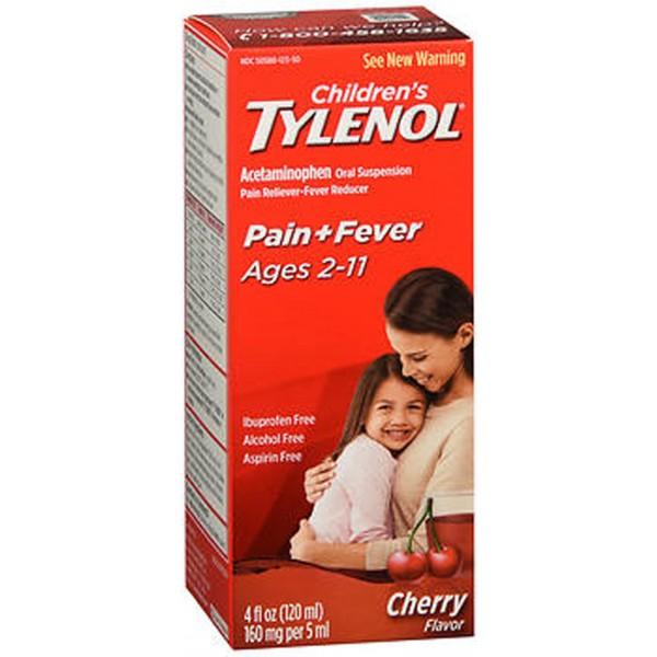 Tylenol Children's Pain & Fever Oral Suspension Cherry Blast Flavor - 4 oz