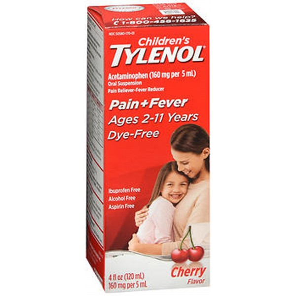 Tylenol Children's Pain + Fever Oral Suspension Cherry Flavor - 4 oz