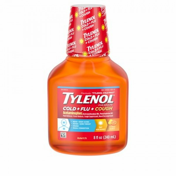 Tylenol Cold Multi-Symptom Liquid Daytime Citrus Burst - 8 oz