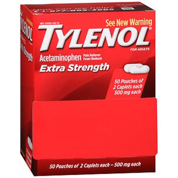Tylenol Extra Strength Caplets - 100 ct