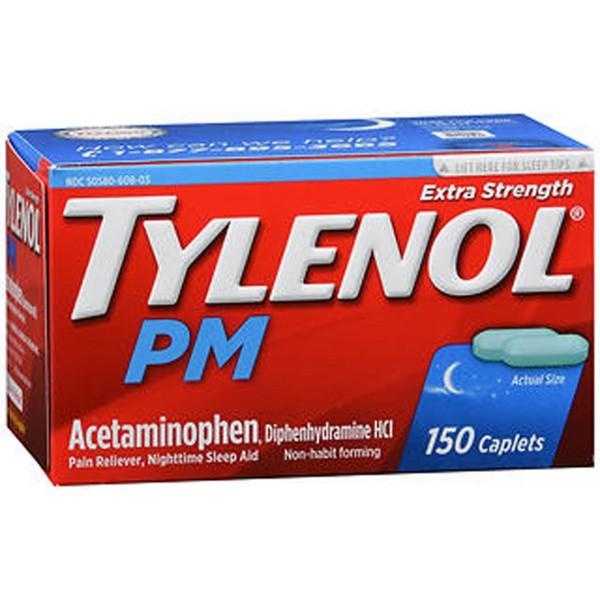 Tylenol PM Pain Reliever Nighttime Sleep Aid - 150 Caplets